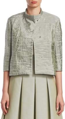Akris Punto Textured Boxy Jacket
