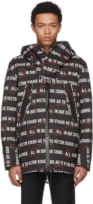 Sacai Black Stasis As To Vector Coat