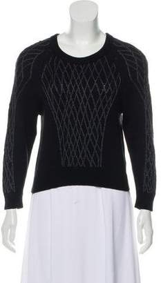 Theyskens' Theory Knit Intarsia Sweater