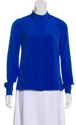 Diane von Furstenberg Silk Button-Up Top