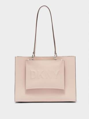 DKNY Mott Large Tote With Deboss Logo Pouch