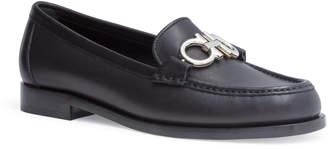 Salvatore Ferragamo Rolo 10 black leather flats
