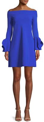 Chiara Boni Berit Off-the-Shoulder Mini Cocktail Dress