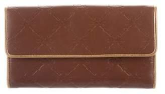 Longchamp Monogram Leather Wallet