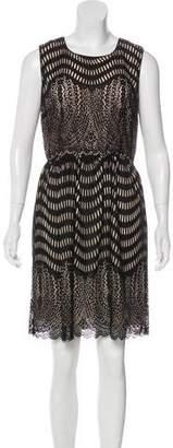 Anna Sui Eyelet Mini Dress