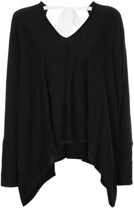 Taylor asymmetric V-neck jumper