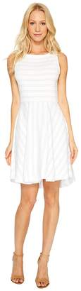 Three Dots Santorini Stripe Fit Flare Dress Women's Dress
