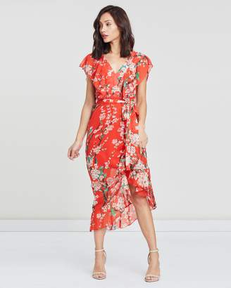 Missguided Short Sleeve Midi Tea Dress