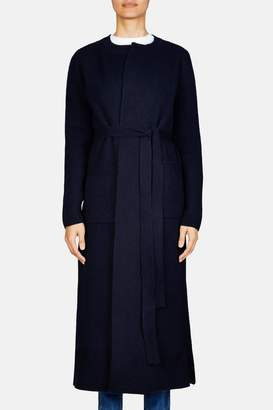 Brock Collection Koffi Long Ribbed Knit Coat - Navy