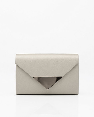 Le Château Metallic Faux Leather Envelope Clutch