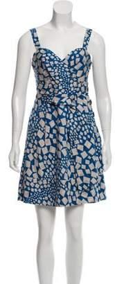 Marc by Marc Jacobs Silk Printed Dress Blue Silk Printed Dress
