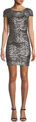 Dress the Population Tabitha Patterned Sequin Bodycon Dress