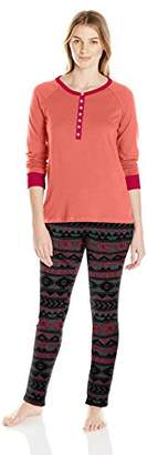 Bottoms Out Women's Printed Sweater Fleece Pajama Set