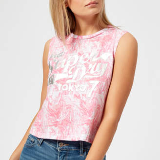 Superdry Women's Surf Team Marble Tank Top