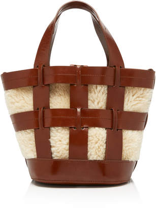 Trademark Cooper Cage Tote Saddle With Shearling