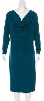 Jean Paul Gaultier Long Sleeve Midi Dress green Long Sleeve Midi Dress