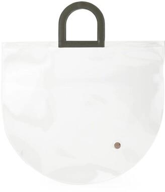 Building Block Stencil in Clear PVC tote bag