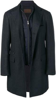 Corneliani layered overcoat