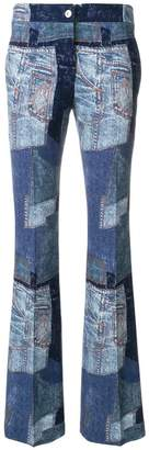 Moschino denim patchwork flares