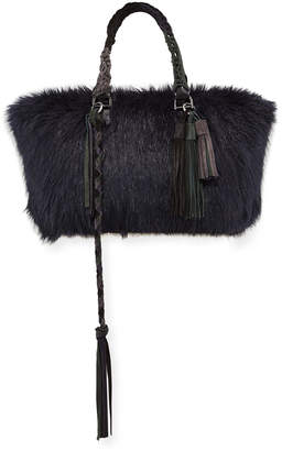 Sacai Tassel Furry Tote Bag