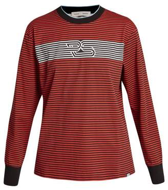 Proenza Schouler Pswl - Graphic Printed Striped Top - Womens - Black Red