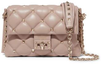 Valentino Garavani Candystud Medium Quilted Leather Shoulder Bag - Pink