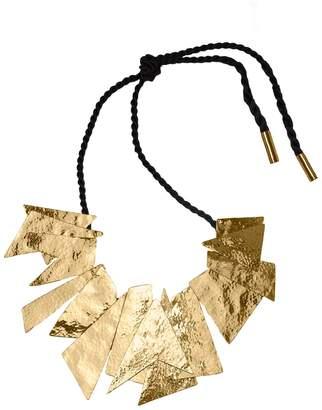 Natori Josie Hammered Brass Buffed Geometric Necklace