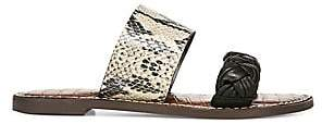 Sam Edelman Women's Summer In The City Gage Two-Strap Leather Slides Sandals