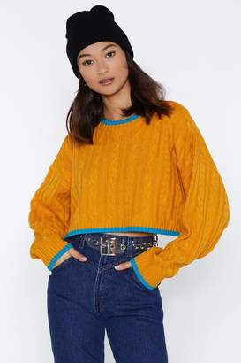 Nasty Gal Big Knitter Cropped Sweater