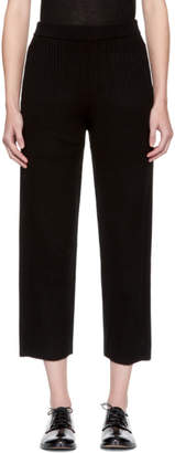 Joseph Black Wool Rib Lounge Pants