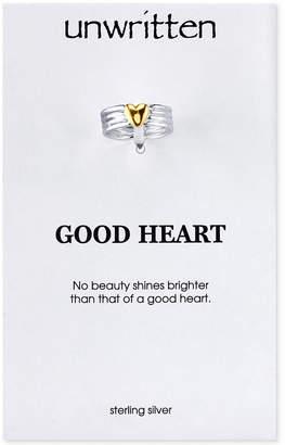 Unwritten Two-Tone Heart Ring in Sterling Silver