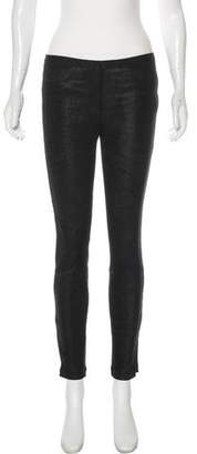 Helmut Lang Leather Skinny Jeans