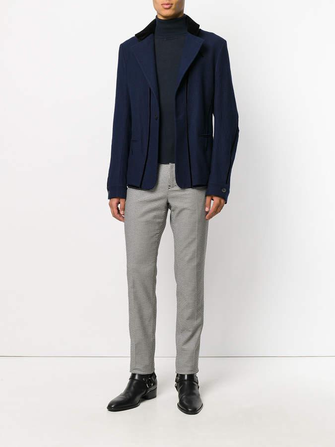 Haider Ackermann houndstooth pattern trousers