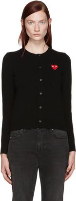 Comme des Garçons Play Black Heart Patch Cardigan $390 thestylecure.com