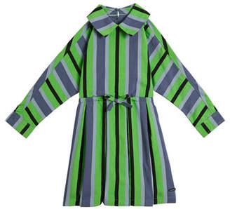 Burberry Crissida Long-Sleeve Striped Dress, Size 4-14