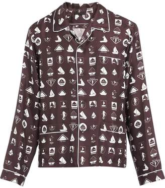 Prada logo print pajama set