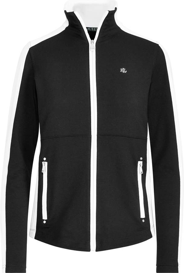 Ralph Lauren Color-Blocked Mockneck Jacket
