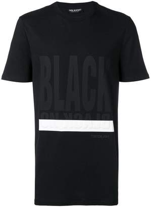 Neil Barrett contrast short-sleeve T-shirt