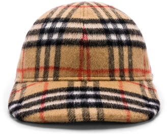 Burberry Checkered Cap in Antique Yellow | FWRD