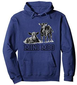 Mini moo funny cute cattle hoodie - Farmer love cattle