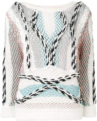 Peter Pilotto chunky knitted cord jumper