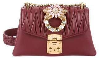 Miu Miu Crystal-Embellished Crossbody
