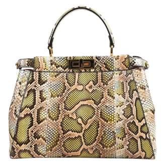 348545d6892f Fendi Peekaboo Multicolour Water snake Handbag