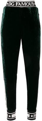 Dolce & Gabbana fluid velvet track pants