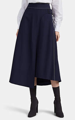 Woolmark Colovos X Prize Women's Merino Wool-Blend Piqué Midi-Skirt - Blue