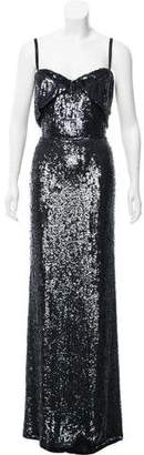 Calvin Klein Collection Sequin Embellished Evening Dress w/ Tags