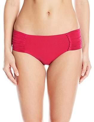 Seafolly Women's Pleated Full Coverage Retro Bikini Bottom Swimsuit