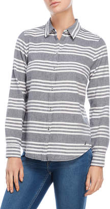 Nautica Stripe Brushed Flannel Shirt