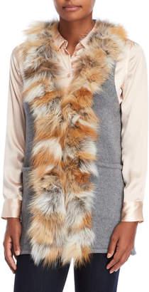 Adrienne Landau Real Fur Mix Media Vest
