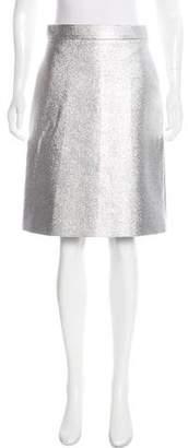 Osman Metallic A-Line Skirt